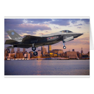 F-35 LIGHTNING FIGHTER AIRCRAFT CARD