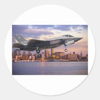 F-35 LIGHTNING FIGHTER AIRCRAFT ROUND STICKER