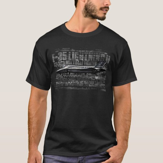 F-35 Lightning II Men's Basic Dark T-Shirt