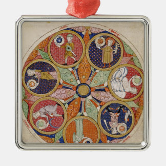 F.56r Table of Planets Christmas Ornament