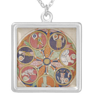 F.56r Table of Planets Silver Plated Necklace
