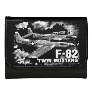 F-82 Twin Mustang Medium Leather Wallet