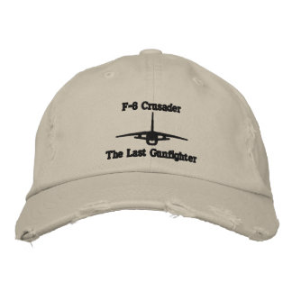 F-8 Crusader Golf Hat W/Call Sign on Back Embroidered Baseball Cap