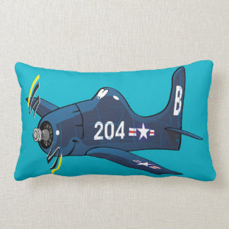 F-8F bearcat cartoon plane Lumbar Cushion
