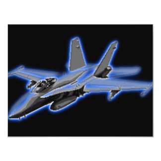 F/A-18 Hornet Blue Fighter Jet Card