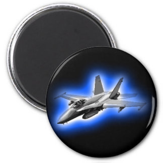 F/A-18 Hornet Fighter Jet Light Blue Magnet