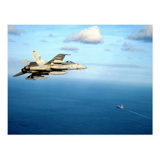F/A-18A Hornet Strike Fighter Squadron 87 Post Card