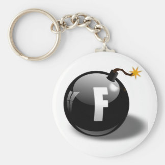 F-bomb Basic Round Button Key Ring