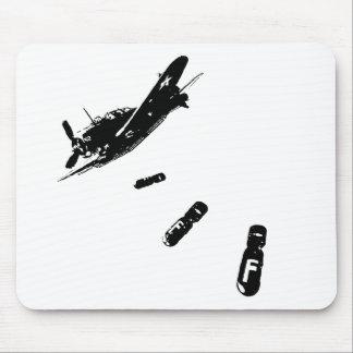 F-Bomb Diver (Black) Mouse Mat