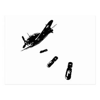 F-Bomb Diver (Black) Postcard