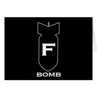 F Bomb Greeting Card