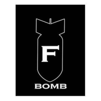 F Bomb Postcard