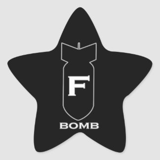 F Bomb Star Sticker