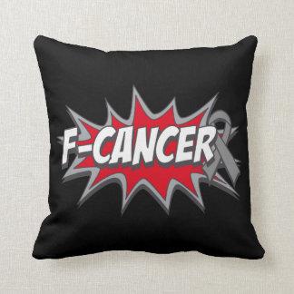 F-Brain Cancer Throw Pillows