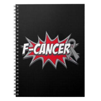 F-Brain Cancer Spiral Note Book
