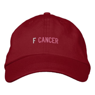F CANCER EMBROIDERED HAT