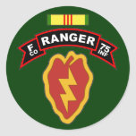 F Co, 75th Infantry Regiment - Rangers, Vietnam Round Sticker