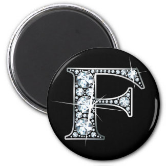 """F"" Diamond Bling Magnet"