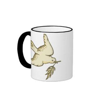 F - Dove of Peace Coffee Mugs