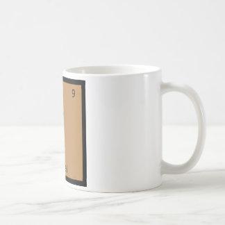 F - Falafel Chemistry Periodic Table Symbol Basic White Mug