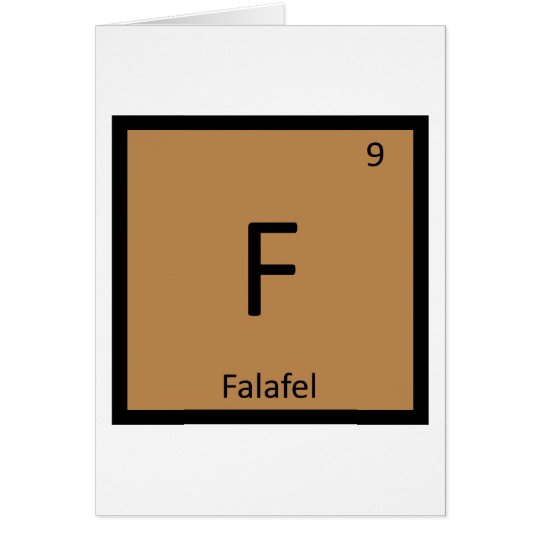 F - Falafel Chemistry Periodic Table Symbol Card