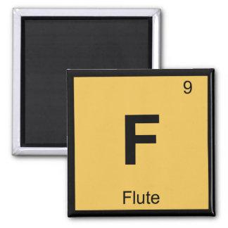 F - Flute Music Chemistry Periodic Table Symbol Refrigerator Magnet