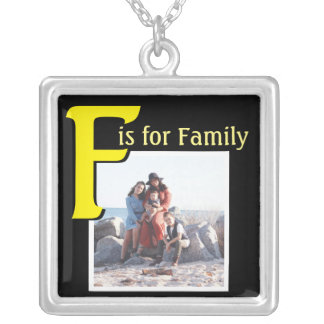 F for Family Silver Plated Necklace
