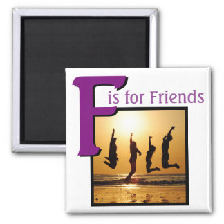 F for Friends Square Magnet
