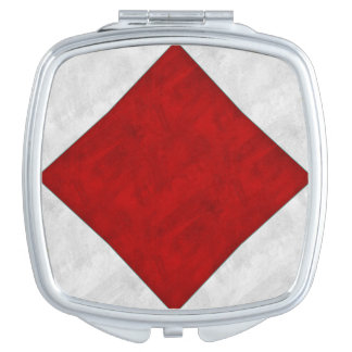 F Foxtrot Watercolor Nautical Signal Maritime Flag Mirrors For Makeup