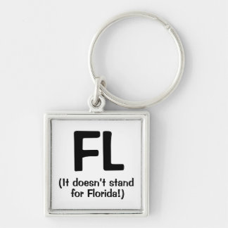 F***ing Loser - Black Silver-Colored Square Key Ring
