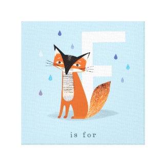 F is for... stretched canvas print