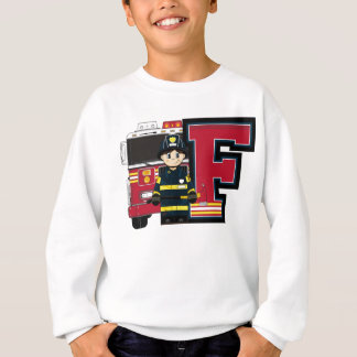 F is for Cartoon Fireman Sweatshirt
