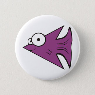 F is for Fishy! 6 Cm Round Badge
