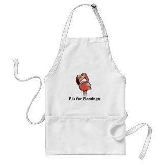 F is for Flamingo Standard Apron