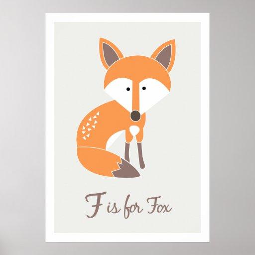 F is for Fox - Alphabet Friends Art