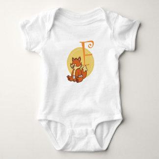 F is for Fox Baby Bodysuit