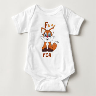 """""""F is for FOX"""" Childs Shirt"""