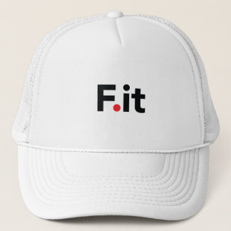 F It Anti Fitness Slogan Trucker Hat