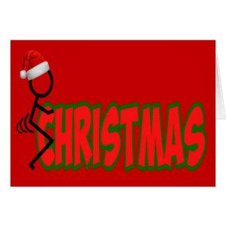 F**k Christmas Greeting Card