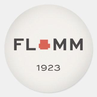 F L + M M 1923 ROUND STICKER