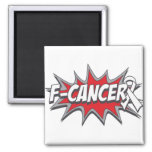 F-Lung Cancer Fridge Magnets