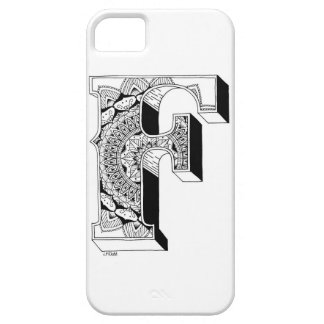F - Mandala N°1 inside Alphabet N°1 Barely There iPhone 5 Case