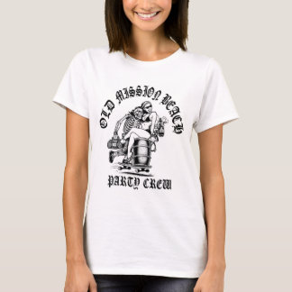 F MB Party Crew Women's White T-shirt