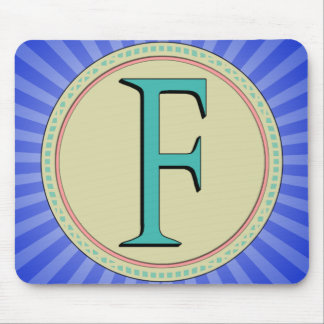 F MONOGRAM LETTER MOUSE PAD