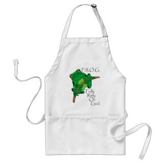 F.R.O.G. Fully Rely On God #1 Aprons