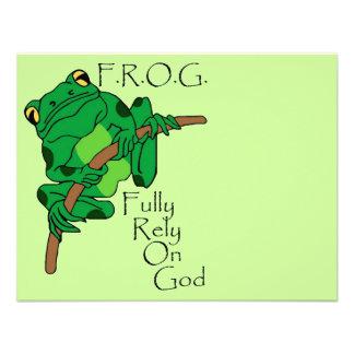F.R.O.G. Fully Rely On God #1 Invites