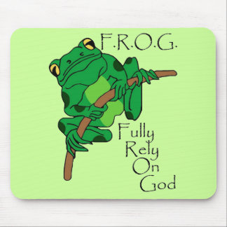 F.R.O.G. Fully Rely On God #1 Mouse Pad
