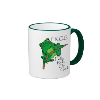 F.R.O.G. Fully Rely On God #1 Ringer Coffee Mug
