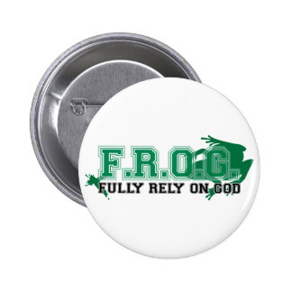 F.R.O.G. - Fully rely on God (green) Pin