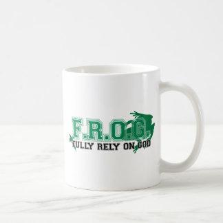 F.R.O.G. - Fully rely on God (green) Mug
